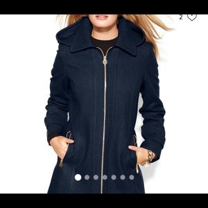 Michael Kors Wool Hooded Coat NWOT